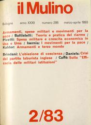 Copertina del fascicolo dell'articolo Sociologia della corsa agli armamenti. Teoria e pratica del riarmo negli anni '80