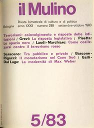 Copertina del fascicolo dell'articolo Istituzioni e forze politiche contro l'offensiva del terrorismo rosso in Piemonte