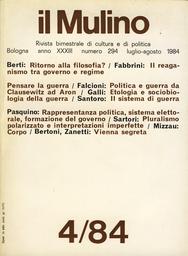 Copertina del fascicolo dell'articolo Politica e guerra da Clausewitz ad Aron