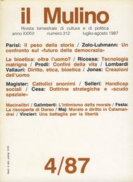 Copertina del fascicolo dell'articolo Natura madre, tecnologia matrigna?