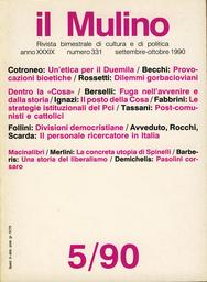 Copertina del fascicolo dell'articolo Dilemmi gorbacioviani