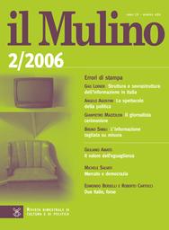 Copertina del fascicolo dell'articolo L'Europa e la sindrome di Lisbona
