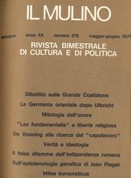 Copertina del fascicolo dell'articolo Recenti studi sulla epistemologia genetica di Jean Piaget