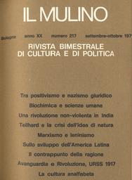 Copertina del fascicolo dell'articolo Avanguardia e Rivoluzione, URSS 1917