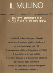 Copertina del fascicolo dell'articolo La crisi del centro-sinistra e l'alternativa europea