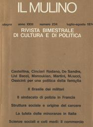 Copertina del fascicolo dell'articolo Per una politica della famiglia