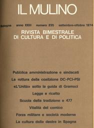 Copertina del fascicolo dell'articolo Spagna: il destino della cultura della destra