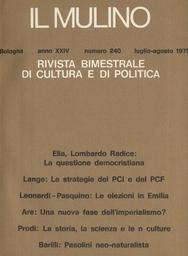 Copertina del fascicolo dell'articolo Pasolini resta sempre un neo-naturalista