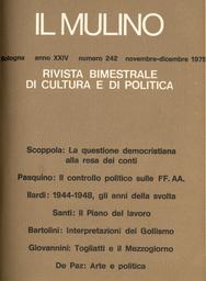 Copertina del fascicolo dell'articolo 1944-1948: gli anni della svolta