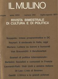 Copertina del fascicolo dell'articolo Movimento sindacale, crisi economica e sociale, compromesso storico